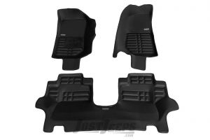TuxMat Front & Rear Floor Mats In Black For 2007-18 Jeep Wrangler JK 2 Door Models 237
