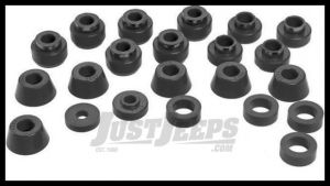 Energy Suspension Body Cab Mount Set in Black For 80-86 Jeep CJ 2.4102G