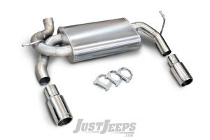 Corsa Performance Dual Exhaust Axle Back System For 2007-18 Jeep Wrangler JK 2 Door & Unlimited 4 Door Models 24412