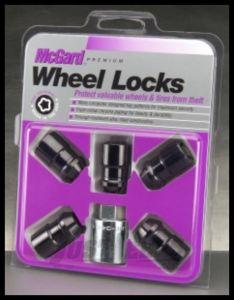 "McGard Black Cone Seat Wheel Locks (1/2"" - 20 Thread Size) - Set of 5 Locks 24548"