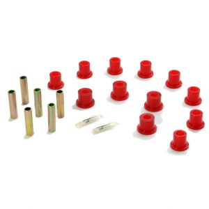 Energy Suspension Front or Rear w/Aftermarket Shackle Spring Bushings Kit Red For 87-95 Jeep Wrangler YJ 2.2119R