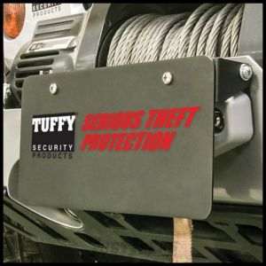 Tuffy Products Flip-Up Winch Hawse Fairlead License Plate Holder In Black For Universal Applications 333-01