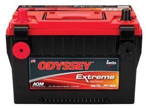 ODYSSEY Extreme Series Batteries (850CCA) For 1997-2011 Jeep Wrangler JK 2 Door & Unlimited 4 Door Models//TJ/XJ 34/78-PC1500DT