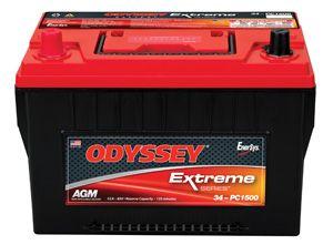 ODYSSEY Extreme Series Batteries (850CCA) For 1997-2011 Jeep Wrangler JK 2 Door & Unlimited 4 Door Models//TJ/XJ 34-PC1500T