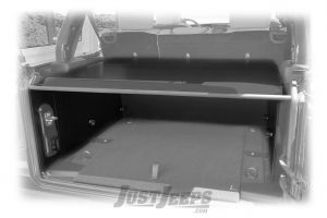 Tuffy Products Security Deck Enclosure In Black With Optional Factory Subwoofer For 2018+ Jeep Wrangler JL 2 Door & Unlimited 4 Door Models 351-01-