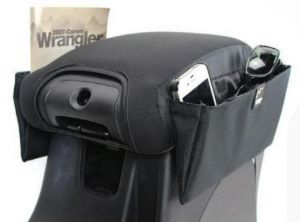Vertically Driven Products Console Armrest Cover Caddy For 2007-18 Jeep Wrangler JK 2 Door & Unlimited 4 Door Models 35005