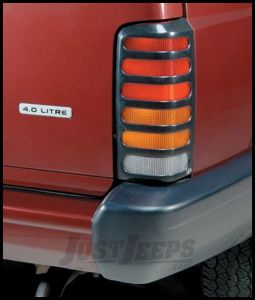 Auto Ventshade Slots Taillight Covers In Black For 1984-96 Jeep Cherokee XJ Models 36025