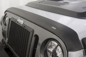 Auto Ventshade Aeroskin Bug Deflector In Matte Black For 2007-18 Jeep Wrangler JK 2 Door & Unlimited 4 Door Models 377060