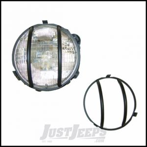 Outland Headlight Euro Guards (Black) For 1997-06 Jeep Wrangler TJ & TJ Unlimited Models 391123001