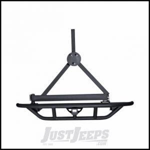Outland Textured (Black) Powder Coated RRC Rear Bumper With Hitch & Spare Tire Carrier For 1987-06 Jeep Wrangler YJ & TJ Models 391150313