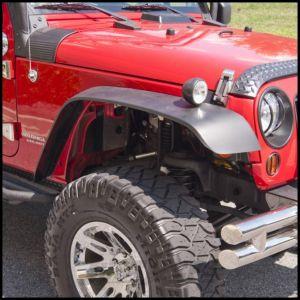 Outland 4 Piece All Terrain Flat Fender Flare Kit For 2007-18 Jeep Wrangler JK 2 Door & Unlimited 4 Door Models 391162010