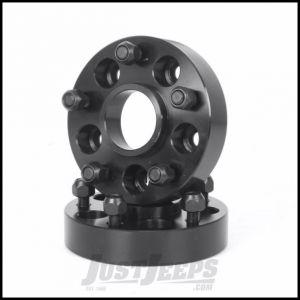 "Outland 1.375"" (Black) Aluminum Wheel Adapters Convert 5"" X 4.5"" To 5"" X 5"" Bolt Pattern 391520111"