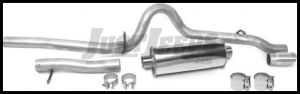 DynoMax Cat Back Exhaust Stainless Steel High Clearance Kit For 2007-11 Jeep Wrangler JK 2 Door Models 39464