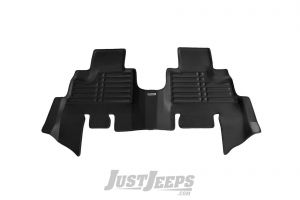 TuxMat Rear Floor Mats In Black For 2007-18 Jeep Wrangler JK Unlimited 4 Door Models 42-B