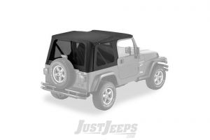 Pavement Ends Replay Replacement Top With Tinted Windows In Black Denim With Full Doors For 1997-06 Jeep Wrangler TJ 51148-15