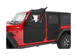 Bestop Full Two-Piece Soft Rear Doors (Black Twill) For 2018+ Jeep Gladiator JT & Wrangler JL Unlimited 4 Door Models 51751-17