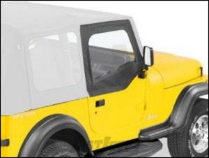 BESTOP Soft Upper Doors For Use With Factory Soft Top Only In Black Denim For 1988-95 Jeep Wrangler YJ 51782-15