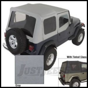 Rugged Ridge XHD Replacement Soft Top with Upper Door Skins & Tinted Windows Grey Denim 1988-95 Jeep Wrangler YJ 13722.09