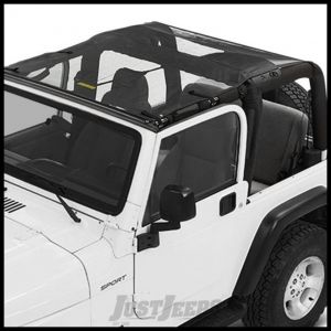 BESTOP Sun Bikini Safari Style Top In Mesh For 1997-06 Jeep Wrangler TJ 52404-11