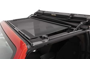BESTOP Retractable Sunshade for Hard-Top In Black For 2007-18 Jeep Wrangler JK 2 Door & Unlimited 4 Door Models 52406-11