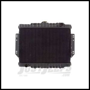 Omix-ADA Radiator 2-Core 1981-86 For Jeep CJ Series 6 or 8 CYL Center Cap 17101.09