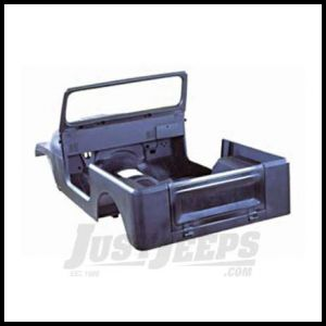 Omix-ADA Steel Body Tub Kit For 1976-86 Jeep CJ7 Includes Body Tub, Hood, 2 Fenders, Tailgate and Windshield Frame 12001.17