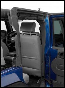 BESTOP Door Surround Kit for Cable Style Soft Tops In Black For 2007-18 Jeep Wrangler JK Unlimited 4 Door Models 55011-01