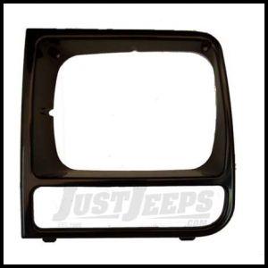 Omix-ADA Headlight Bezel Driver Side BLACK For 1997-01 Jeep Cherokee XJ 12419.17