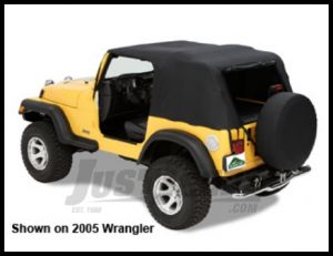 Pavement Ends Ends Emergency Top In Black Denim With Full Doors For 2004-06 Jeep Wrangler TLJ Unlimited 56813-01