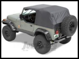 Pavement Ends Emergency Top Black Denim For 1992-85 Jeep Wrangler YJ (Fits With Full Doors) 56811-01