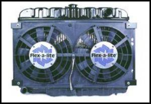 Flex-A-Lite Electric Dual Puller Fan Straight Blade for 1973-86 CJ Series 575