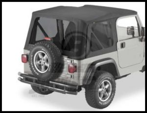 BESTOP Tinted Window Kit For Factory Original/Replace-A-Top/SuperTop NX In Black Diamond For 2003-06 Jeep Wrangler TJ 58128-35