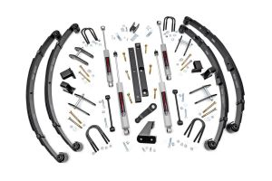 """Rough Country 4½"""" Spring Suspension Lift Kit With Premium N3.0 Series Shocks For 1987-95 Jeep Wrangler YJ (With Manual Steering) 614.20"""
