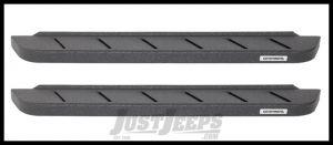 Go Rhino RB10 Running Boards In Black Texture Finish For 2007-18 Jeep Wrangler JK 2 Door Models