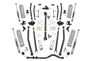 """Rough Country 6"""" Long Arm Suspension Lift Kit   SPRINGS For 2018 Jeep Wrangler JL Unlimited 4 Door Models 66030"""