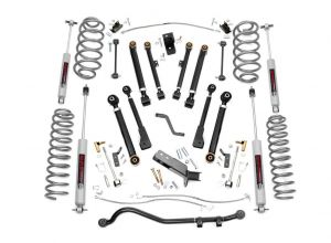 """Rough Country 4"""" X-Series Suspension Lift Kit With Premium N3 Shocks For 1997-06 Jeep Wrangler TJ & TJ Unlimited Models 66130"""