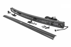 """Rough Country 50"""" Curved Cree LED Dual Row Light Bar (Black Series) 72950D"""