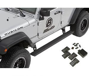 BESTOP PowerBoard NX Retractable Electric Running Boards For 2007-18 Jeep Wrangler JK Unlimited 4 Door Models 75652-15