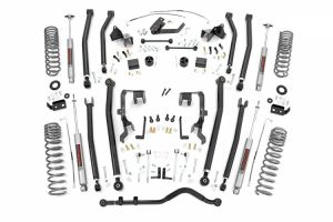 """Rough Country 4"""" Long Arm Suspension Lift Kit For 2007-2011 Jeep Wrangler JK Unlimited 4 Door Models 3.8L 78530A"""