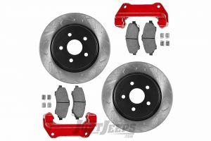 G2 Axle & Gear Front Big Disc Brake Kit For 2007-18 Jeep Wrangler JK 2 Door & Unlimited 4 Door Models 79-2050-1