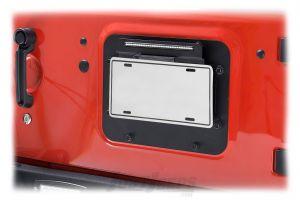 Kentrol BackSide License Plate Mount With LED For 2010-18 Jeep Wrangler JK 2 Door & Unlimited 4 Door Models 80703