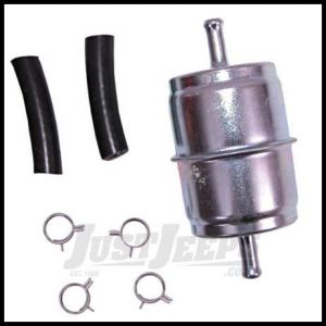 Omix-ADA Fuel Filter Kit For 1955-86 Jeep M & CJ Series With Hoses & Clamps 17718.01