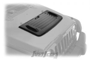 BESTOP Hood Applique In Black For 2007-18 Jeep Wrangler JK 2 Door & Unlimited 4 Door Models 81713-01