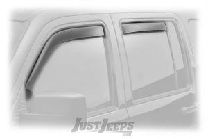 WeatherTech Front & Rear Side Window Deflector Set In Dark Smoked For 1997-01 Jeep Cherokee XJ 4 Door Models 82059