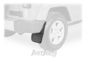 MOPAR Rear Deluxe Molded Splash Guards With Jeep Logo For 2007-18 Jeep Wrangler JK 2 Door & Unlimited 4 Door Models 82210232