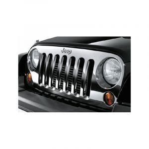 MOPAR (Chrome) Grille For 2007-18 Jeep Wrangler JK 2 Door & Unlimited 4 Door Models 82210558AD