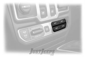MOPAR Auxiliary Switch Bank For 2018+ Jeep Wrangler JL 2 Door & Unlimited 4 Door Rubicon Models 82215798AD