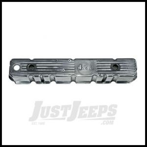 """Omix-ADA Valve Cover For 1981-86 Jeep CJ Series With 6 Cyl With """"4.2L"""" Logo (Polished Aluminum Replacement for Plastic Original) 17401.09"""