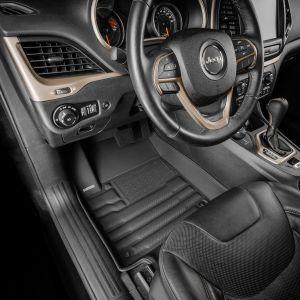 TuxMat Custom Floor Mats For 2016-22 Jeep Cherokee Front & Rear Rows 8452