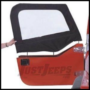 Rampage Door Skins and Frames (For Soft Upper Half Doors) Denim Black For 1997-06 Jeep Wrangler TJ (Pair) 89815